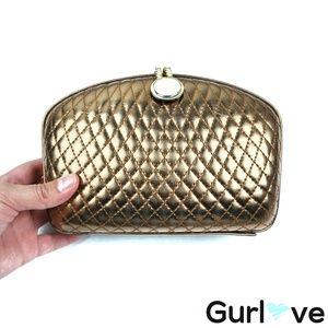 VTG Le Ann Cooper Quilted Hard Clasp Bag Crossbody